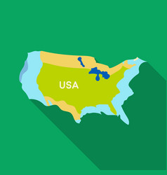 Territory of the united states icon in flate style vector