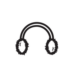 thin line earmuff icon vector image vector image