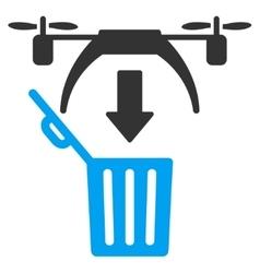 Trash Drone Icon vector image