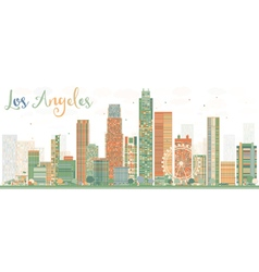 Los angeles skyline with buildings vector