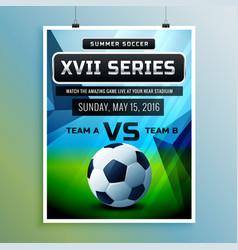 Soccer championship flyer template vector