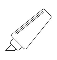 Marker write school utensil thin line vector