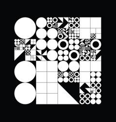 Subdivided grid system with symbols randomly vector