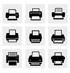 Printer icons vector image