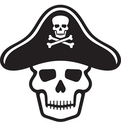 Skull and cross bones vector image