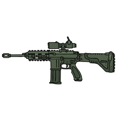 Green automatic gun vector