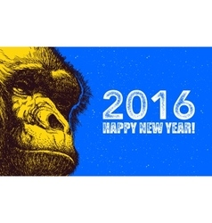 The year of monkey vector