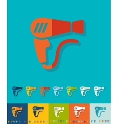 Flat design hair dryer vector