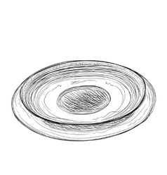 Hand drawn plate sketch vector