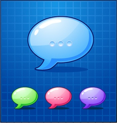Set bubble chat icon vector