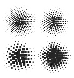 Abstract Halftone Elements vector image vector image