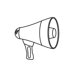 Bullhorn advertising symbol vector image