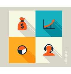 Business icon set Finance marketing e-commerce vector image vector image