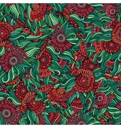colorful seamless abstract floral pattern vector image