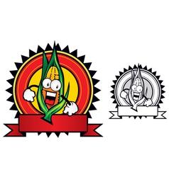 corn mascot vector image