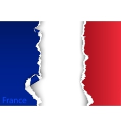 Design flag france from torn papers with shadows vector