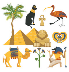 egypt set ancient egyptian religion and cultural vector image