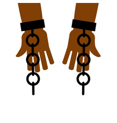 Emancipation from slavery break free chains on vector