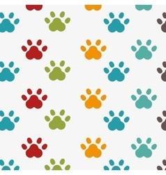 Footprint seamless pattern design vector