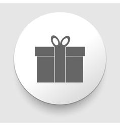 Gift box - icon vector image vector image