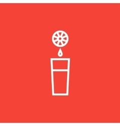 Glass of juice line icon vector