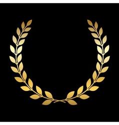 Gold laurel wreath vector image vector image