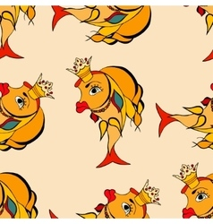 Goldfish with crown vector image vector image