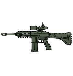 Green automatic gun vector