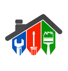 Home repair with a tool vector