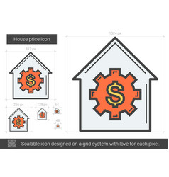 House price line icon vector