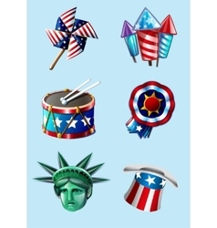 Independence day items vector image vector image