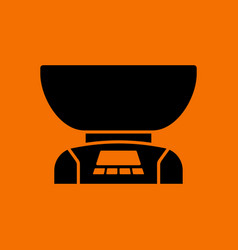 Kitchen electric scales icon vector