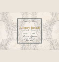 luxury invitation handmade vector image
