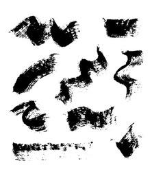 Mascara brush stroke set vector
