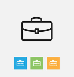 Of teach symbol on briefcase vector