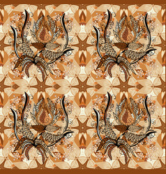 On beige orange and brown colors abstract pattern vector