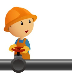 pipeline with valves vector image