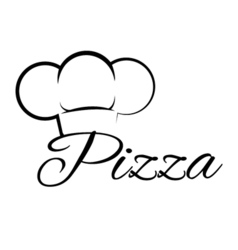 Pizza Chef Hat Lettering Text Pizza Design Element vector image