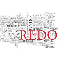 Redo word cloud concept vector