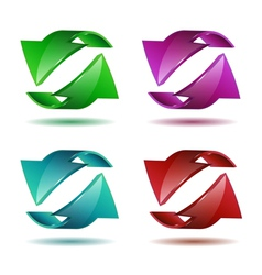 Set of arrow stickers vector image