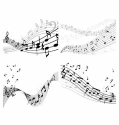 set of music background vector image vector image