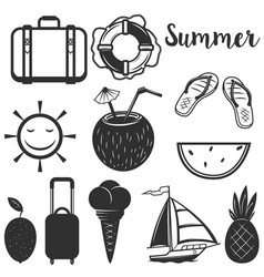set of summer design elements vector image vector image