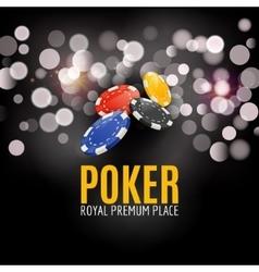 Shining Casino Poker Banner Poster Show spotlight vector image vector image