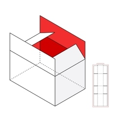 Simple box template vector image vector image