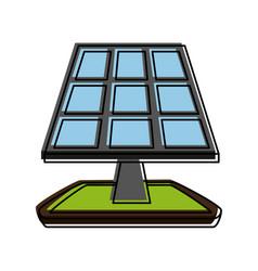 solar panel eco friendly icon image vector image