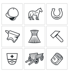 Stable icons vector