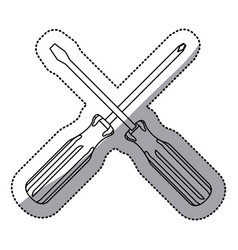 Sticker set collection screwdriver icon tools vector
