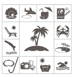 Tropic icons vector image