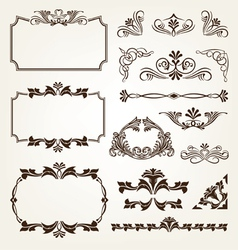 Vintage retro calligraphic borders vector