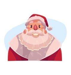 Santa claus face smiling facial expression vector